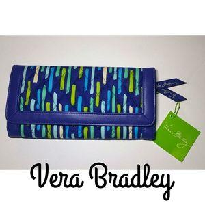 NWT Vera Bradley Katalina Showers Trifold Wallet